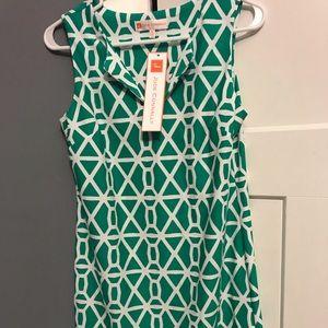 Jude Connally Carissa Nylon Chain Green XS Dress
